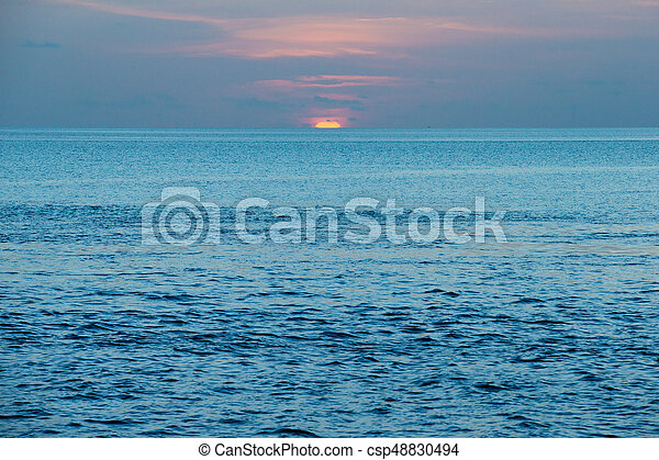 Colorful Sunset In The Beach - csp48830494