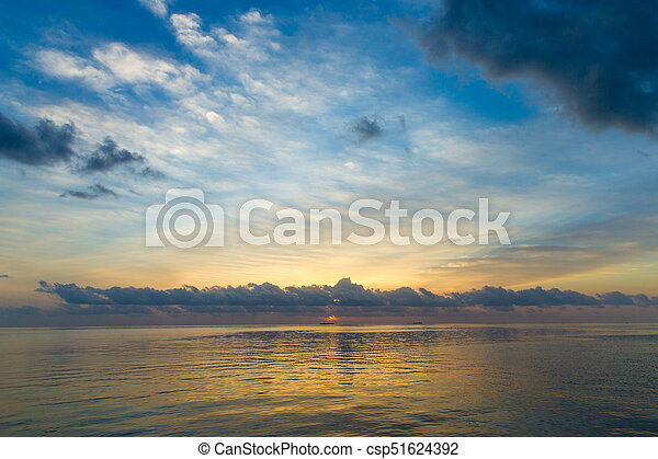 Colorful Sunset In The Beach - csp51624392