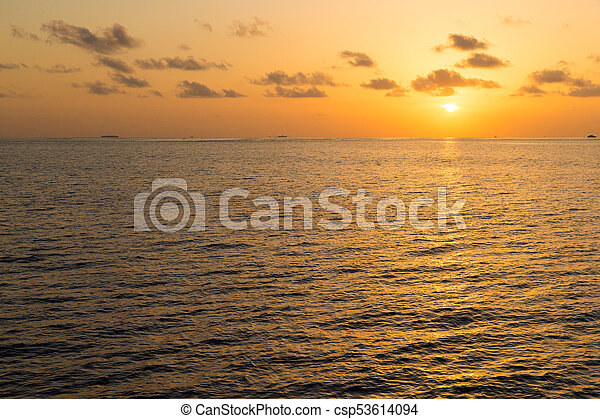 Colorful Sunset In The Beach - csp53614094