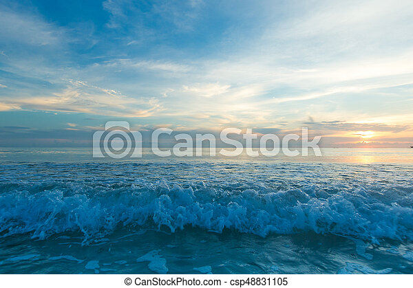 Colorful Sunset In The Beach - csp48831105