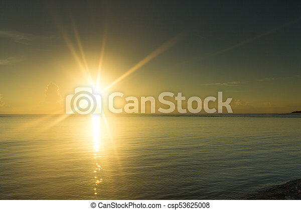 Colorful Sunset In The Beach - csp53625008