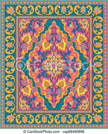 Colorful template for carpet. - csp66490896
