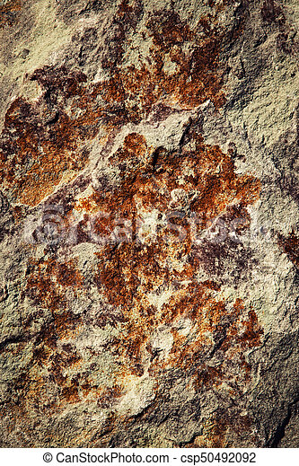 colorful texture of limestone rocks - csp50492092