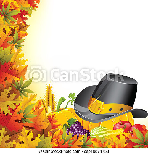 Colorful Thanksgiving - csp10874753