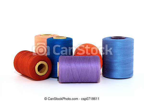 Colorful thread bobbins - csp0718611