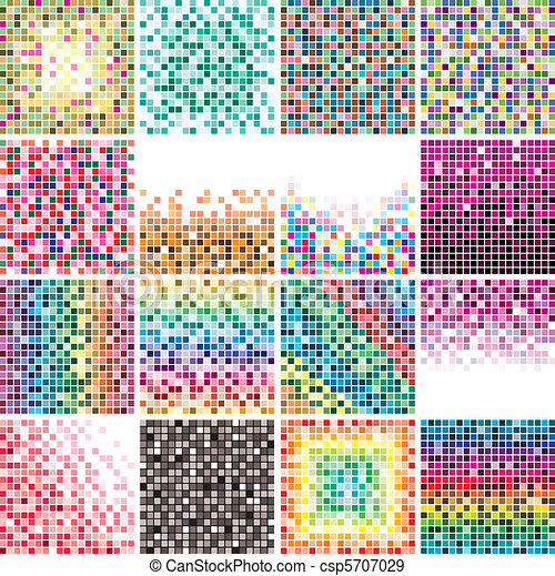 colorful tile backgrounds - csp5707029