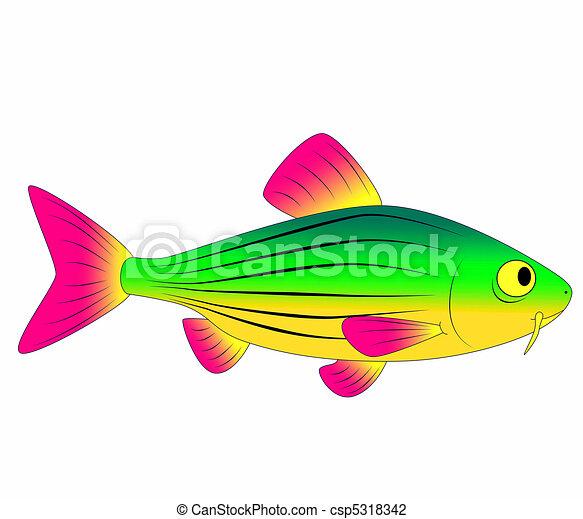 colorful toy fish fish minnow ocean sea aquarium bright carp rh canstockphoto com Salmon Clip Art Minnow Fish Clip Art
