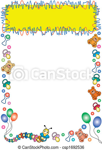 colorful toys border - csp1692536