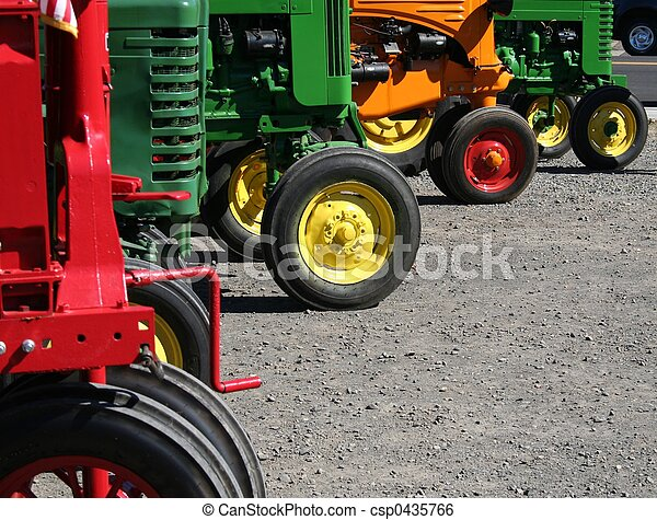 Colorful Tractors - csp0435766