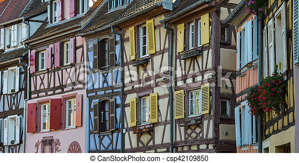 Colorful Traditional French Houses In Petite Venise Colmar