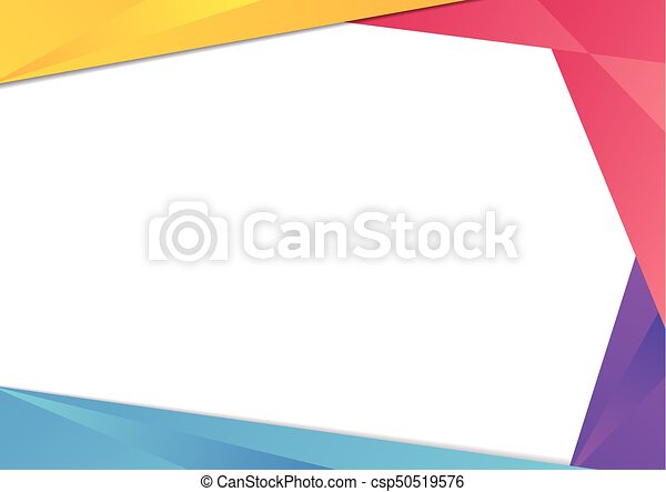 Colorful triangle frame border. Colorful gradient triangle frame ...