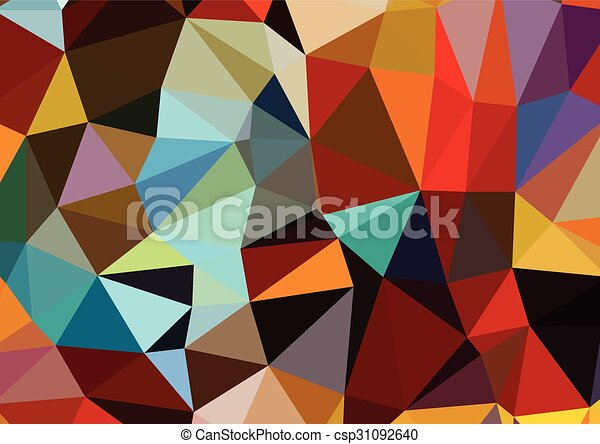 Colorful triangles background polygons - csp31092640