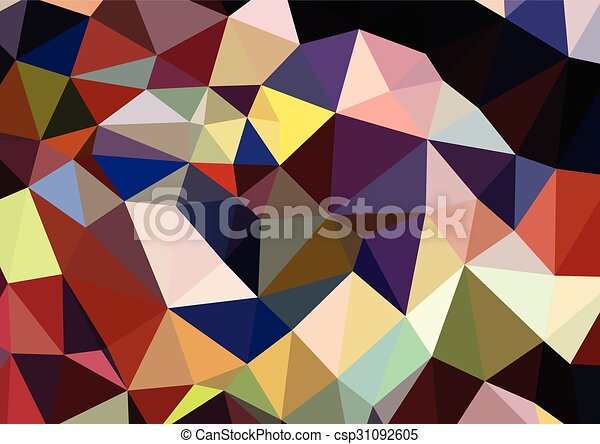 Colorful triangles background polygons - csp31092605