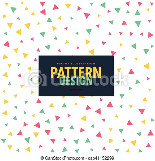 colorful triangles pattern background - csp41152299