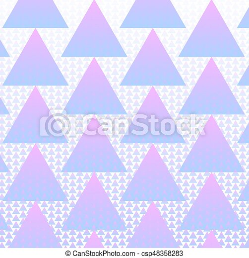 Colorful triangles pattern background with halftone vector - csp48358283