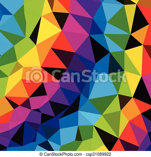 Colorful Triangles Pattern  background. Clip-art - csp31089922