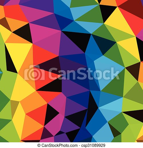 Colorful Triangles Pattern  background. Clip-art - csp31089929