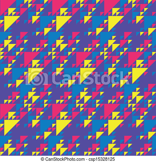 Colorful Triangles Pattern - csp15328125
