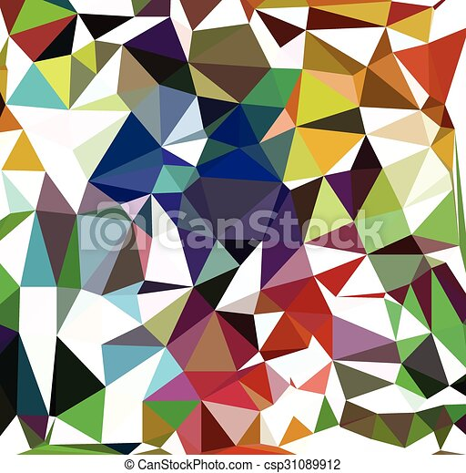 Colorful Triangles Pattern - csp31089912