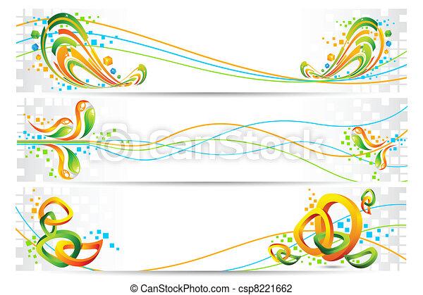 Colorful Tricolor Banner - csp8221662