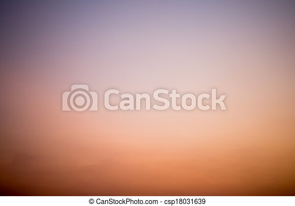 Colorful Twilight sky background - csp18031639
