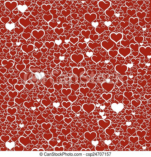 Colorful Valentines day background - csp24707157