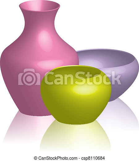 colorful vases  - csp8110684