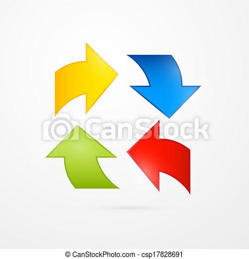 Colorful Vector Arrows - csp17828691