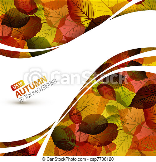 Colorful vector autumn background - csp7706120