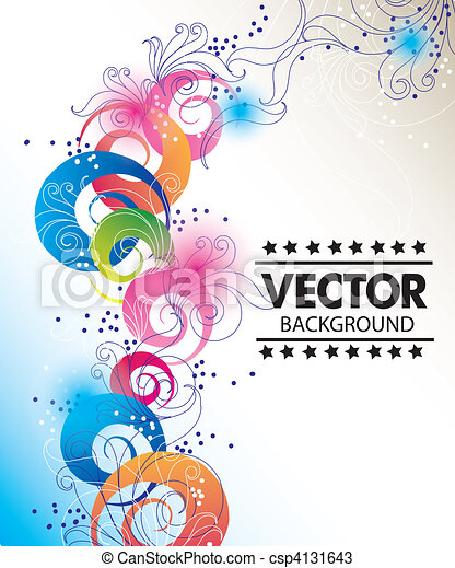 Colorful vector background - csp4131643