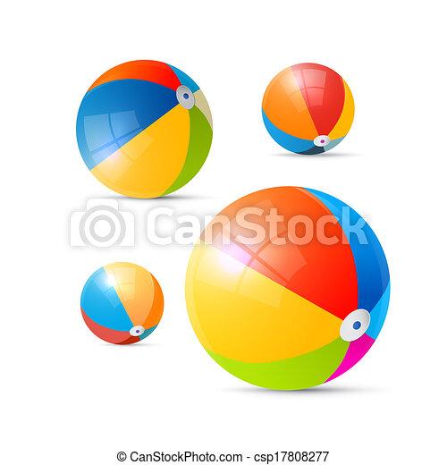 Colorful Vector Beach Balls - csp17808277