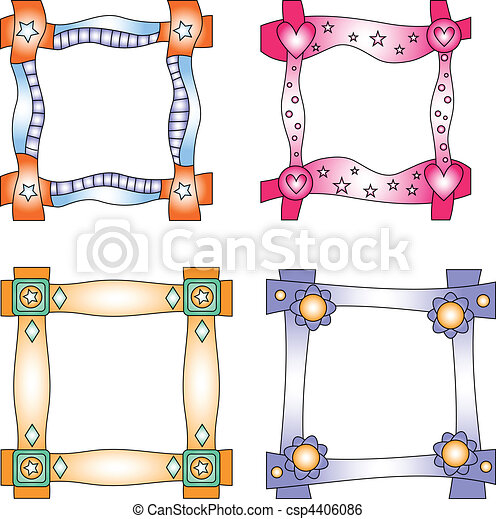 Colorful vector frames or tags - csp4406086