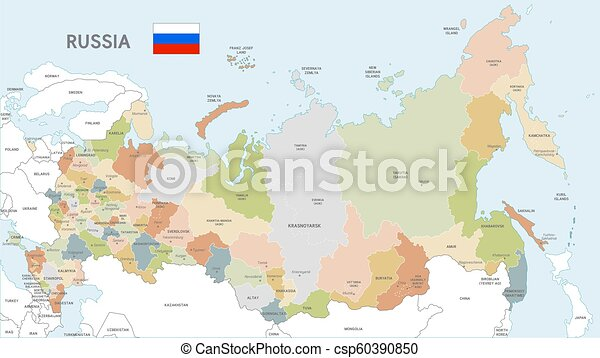 Colorful Vector Map of Russia on korea map, china map, poland map, australia map, united kingdom map, france map, iraq map, soviet union map, europe map, africa map, italy map, asia map, saudi arabia map, romania map, india map, baltic map, canada map, japan map, eurasia map, germany map,