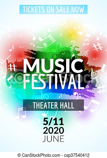 colorful vector music festival concert template flyer musical flyer