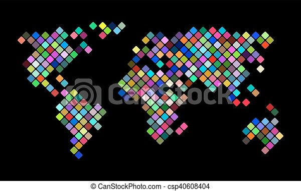 Colorful vector pixel world map colorful pixel world map vector colorful vector pixel world map gumiabroncs Image collections