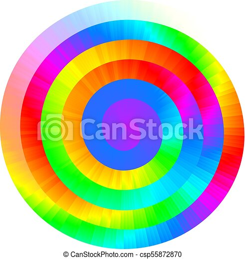 Colorful vector rainbow spiral - csp55872870