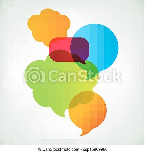 Colorful Vector Speech Bubbles - csp15969968