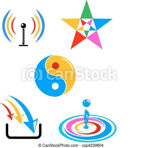 colorful vector symbols - csp4239804