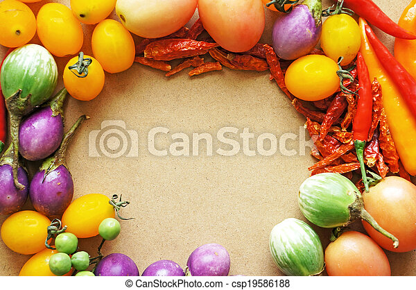 Colorful vegetable frame - csp19586188