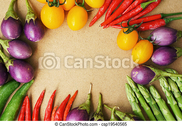 Colorful vegetable frame - csp19540565