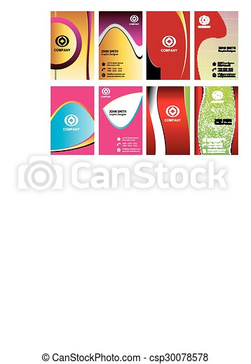Colorful vertical business cards vectors illustration search colorful vertical business cards csp30078578 colourmoves Images
