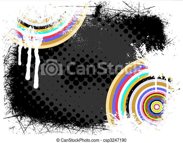 colorful vintage background - csp3247190