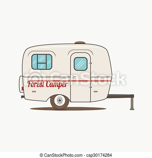 Colorful Vintage Rv Car Vector