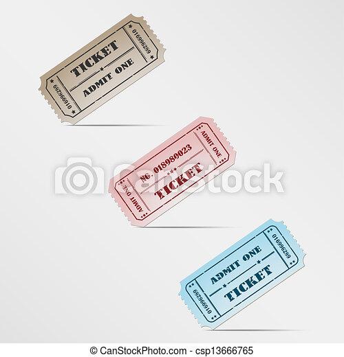 Colorful vintage ticket - csp13666765