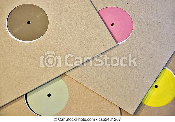 colorful vinyl record labels - csp2431267