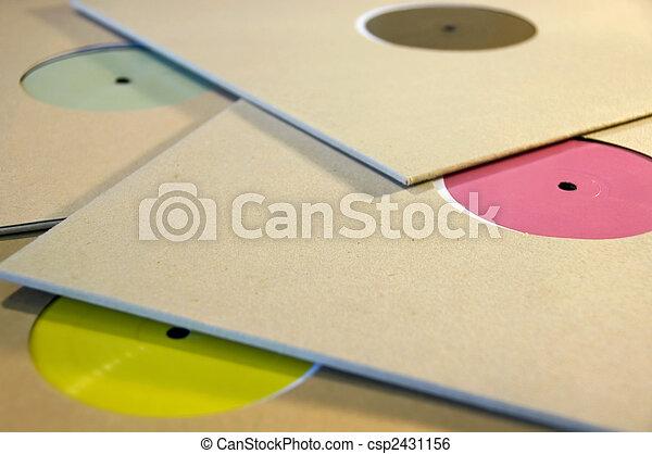 colorful vinyl records - csp2431156