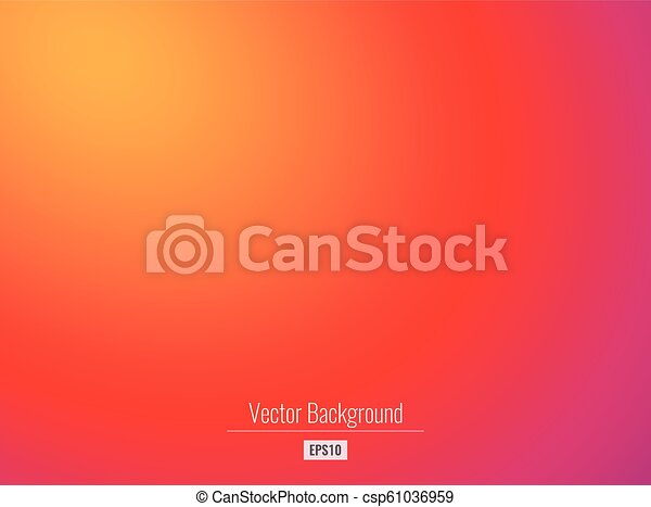Colorful Warm Abstract Background In Red Orange Color