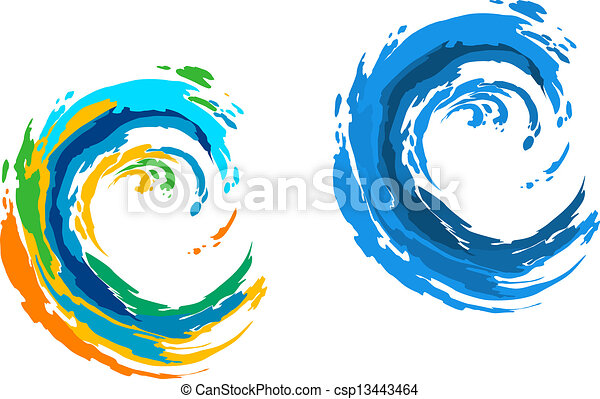 Colorful waves - csp13443464