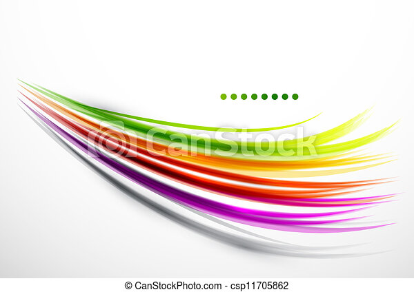 Colorful wavy lines - csp11705862