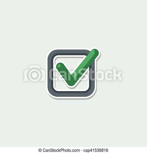 Colorful Web Symbol Check Mark Web Symbol Green Check Mark